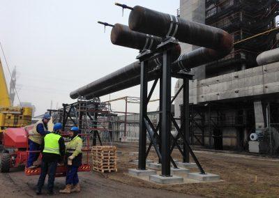 Trassenbau einer DN1000 Stahlleitung
